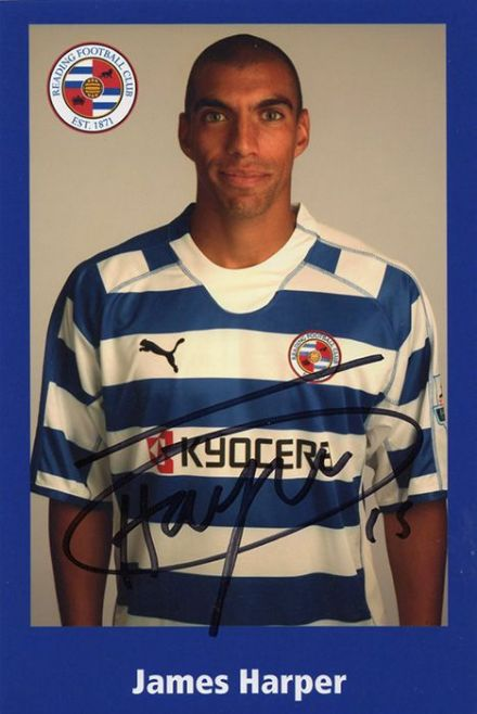 James Harper, Reading, signed 6x4 inch photo.